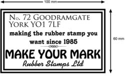 Address Stamp 100x60