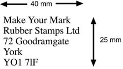 Address Stamp 40x25