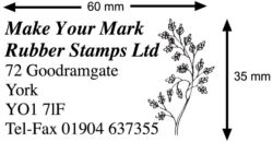 Address Stamp 60x35