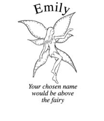 A name stamp with a fairy C13