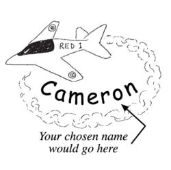 A name stamp with a plane - jet C5