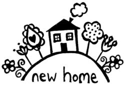 New Home House Flowers Q5154