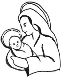Mary and baby Jesus R5296