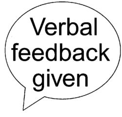 Verbal feedback given