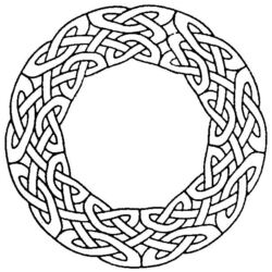 Celtic Circle Border ZC1580