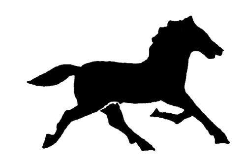 Quarter Horse Running Silhouette Horse Running S...